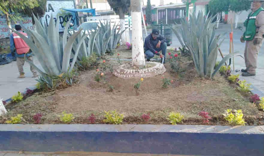Modernizan parques y jardines en Silao